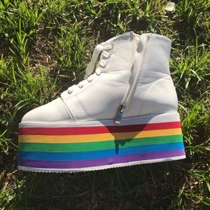 Dolls Kill Shoes | Rainbow Rebellion
